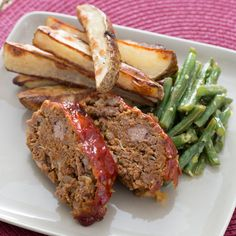 Beef Meatloaf & Roasted Potatoes with Lemon-Horseradish Green Beans Seasoned Potatoes, Lemon Potatoes, Roasted Potatoes, Onion Recipes, Bean Recipes, Paleo Recipes, Horseradish Recipes, Blue Apron, The Fresh