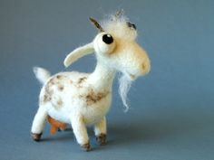 Matilda the Goat / needle felted art toy by HandmadeDreamers