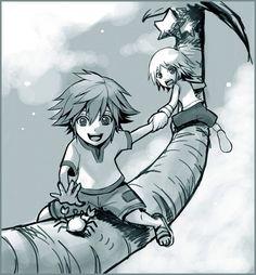 Sora e Riku Kingdom Hearts 3, Butler Anime, Heart Images, Anime Comics, Cartoon Drawings, Final Fantasy, Fan Art, Boy Squad, Fandoms
