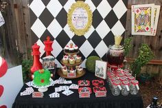 Alice in Wonderland birthday party dessert table! See more party planning ideas at CatchMyParty.com!: