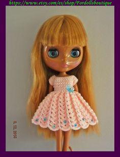 Dress for Blythe dolls - vestido para muñecas Blythe de Fordollsboutique en Etsy