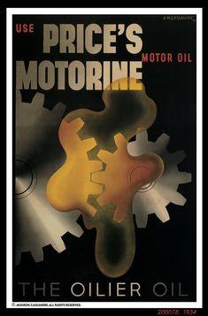 A M Cassandre | 1934 | Price's Motorine