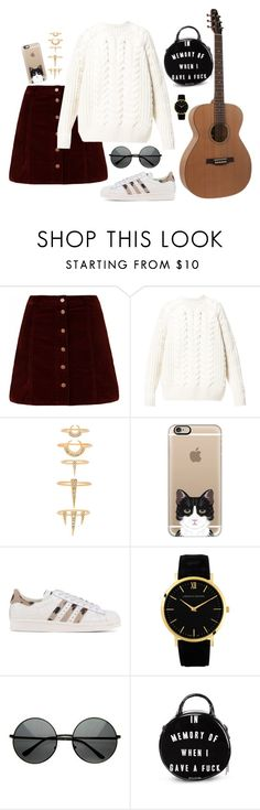 """Sin título #589"" by mary-nava ❤ liked on Polyvore featuring Diesel, Luv Aj, Casetify, adidas Originals, Larsson & Jennings and Killstar"