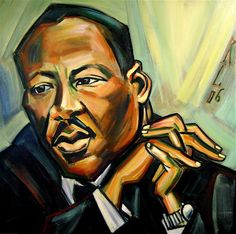 January 15: Birthday of Dr. Martin Luther King Jr. Art by RayeBones @ Deviantart. (According to Wikipedia, this date is also the birthday of Charo, Lisa Lisa, and Kelly Kelly. Huh.)