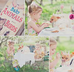 little girls tea party styled photo session by fresh from god photography