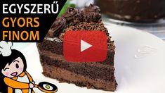 Csokoládétorta (Csokitorta) - Recept Videók