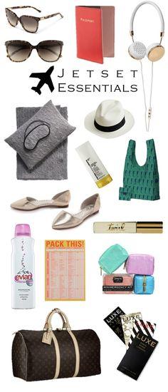 chic travel: jetset essentials #fashion #travel