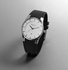 Kenneth Cole Round Slim Watch, polycarbonate band $95.00