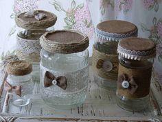MyShabbyCountryDreams: Barattoli di vetro decorati