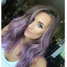 Pastel purple on Tressa @tressesbytress  by Kirstin @kharma_kirstin  orchid, lt purple and titanium