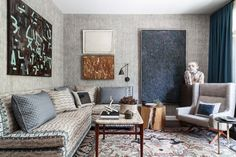 Room of the Week :: Tonal Pattern in a Layered Study