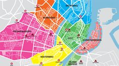 Map of and guides to Copenhagen's city areas.