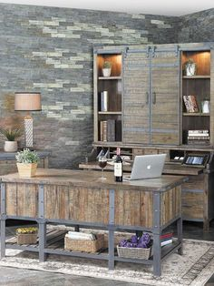 You'll love the natural rustic style of the Artisan Revival Office collection!