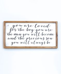 Black & White 'Loved Son' Wall Sign