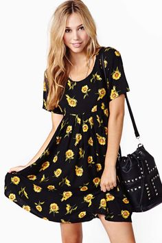 Sunflower Babydoll Dress- Nasty Gal.