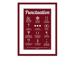 Twelve Punctuation Marks  Art Print  Punctuation by FolioCreations, $35.00