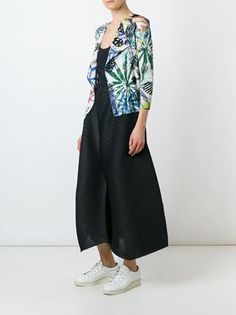 Pleats Please By Issey Miyake pantacourt ample