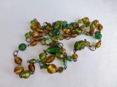 OOAK Extra Long Bohemian Style Glass Wire by DonkeyandTheUnicorn, $20.00