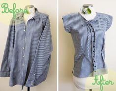 11wonderful Ideas to Refashion shirt into Chic Top9