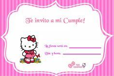 Invitacion Hello Kitty 2 8th Birthday, Birthday Parties, Birthday Stuff, Hello Kitty Items, Cat Party, Fiesta Party, Princess Party, Birthday Party Invitations, Cata