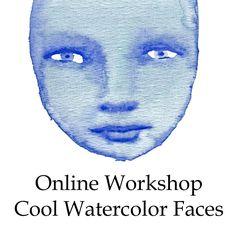 Online Workshop Cool Watercolor Faces by Mandy van Goeije - 1 technique, 3 art journal pages!!! by mandyvangoeije on Etsy