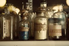 Rooney Robison Antiques...Our Style File!  lost in the Renaissance    Vintage bottles