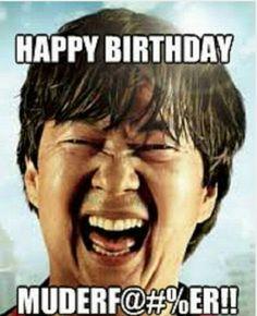 Happy Birthday From Chow - Funny Happy Birthday Meme Funny Happy Birthday Images, Birthday Wishes Funny, Happy Birthday Messages, Happy Birthday Quotes, Happy Birthday Male Friend, Birthday Memes For Her, Birthday Funnies, Birthday Gifs, Gym Humor
