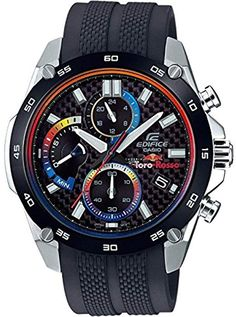 Shop Casio Edifice Toro Rosso Special Edition Watch ✓ free delivery ✓ free returns on eligible orders. Watch Deals, Casio Edifice, Swatch, Timex Watches, Casio G Shock, Luxury Watches For Men, Casio Watch, Cool Watches, Smart Watch