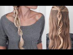 DNA Braid - Three Strand Fishtail Braid - Spiral Braid - Easy tutorial - YouTube