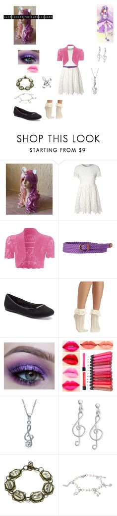 """""""sweetie belle"""" by bluesakurarose on Polyvore featuring My Little Pony, Glamorous, jcp, LC Lauren Conrad, Bling Jewelry, Giani Bernini and West Coast Jewelry"""