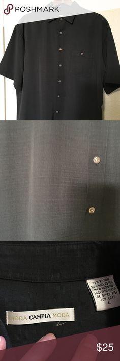 Moda Campia Moda Men's Button Down Shirt Moda Campia Moda Men's Button Down Shirt.  Dark Gray. Moda Campia Moda Shirts Casual Button Down Shirts