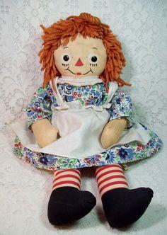 Silsby Raggedy Ann by Georgene Novelties, Inc. Childhood Friends, Childhood Memories, Antique Dolls, Vintage Dolls, Ann Doll, Raggedy Ann And Andy, Holly Hobbie, Seattle Wedding, Classic Toys