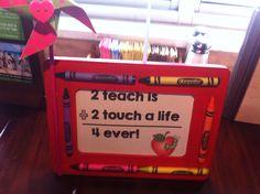 Crayon Frame #littlehandsbigplans
