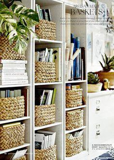 home office organization 15 Organization Ideas for a Cozy Home // Organization ideas, storage ideas, home ideas,organization home ideas Bookshelf Storage, Decorating Bookshelves, Ladder Shelves, Small Bookcase, Bookcase Styling, Bookcases, Rustic Bookshelf, Bedroom Bookshelf, Shelving