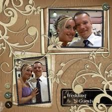Wedding Day Scrapbook Pages