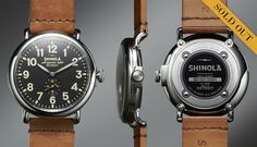This watch is being produced in Detroit from a company called Shinola. The first run of 1,000 doesn't ship until July and they are all already sold out ($550). There will be many more to follow.