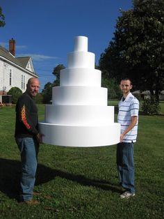 giant cardboard cake