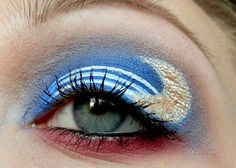 Sailor Moon inspired make up by http://smoky-eyed.blogspot.de/2015/06/moon-pride-sailor-moon-look.html