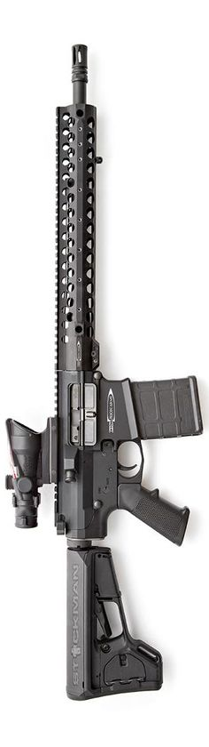 "Centurion Arms .308 shown with their 14"" rail on a 16"" barreled weapon. Photo by Stickman."