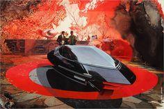 Syd Mead: Zweiradwagen mit Gyroskop-Stabilisierung (um 1960)