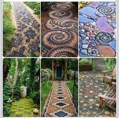 Beautiful mosaic walkways & patios