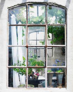 spröjsat fönster
