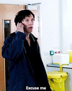 """Excuse me."" - Sherlock - His Last Vow gif"
