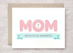 Mother's Day Card  Spring I Love You Card  Eco by HappyDappyBits
