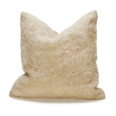 White Small Mohair Wool Turkish Pillow – Laurier Blanc | Unique Home Decor From Around The World