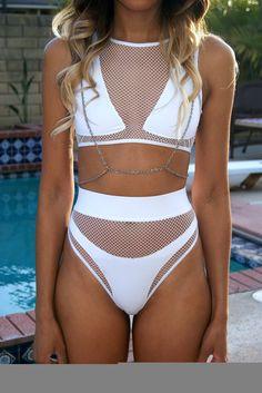 Bikini with body chain