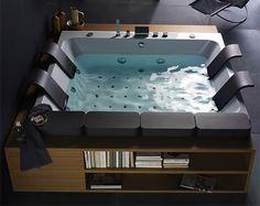 Whirlpool tub. And books. HEAVEN.