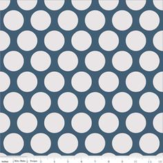 Super Star Dot Blue Flannel-riley blake designs flannel fabric super star my minds eye polka dot blue F3092 gray