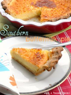 Southern Buttermilk Pie After finally getting to the recipe, I decided to try it. It is absolutely fabulous! Make sure to use butter, not margarine. Makes a big difference.