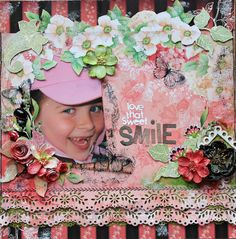 Love That Sweet Smile~~ScrapThat! March kit~~ - Scrapbook.com